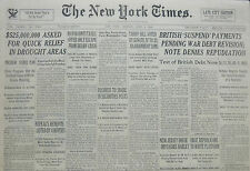 6-1934 June 5 BRITISH SUSPEND PAYMENTS PENDING WAR DEBT REVISION DENIES  81th