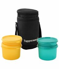 Tupperware Executive Plastic Lunch Set with Bag, 4-Pieces