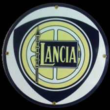 Lancia Porcelain Advertising Sign