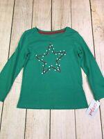 Star And Lights Green Long Sleeve Girls Shirt Christmas Holiday Cat & Jack