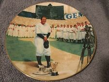 "Lou Gehrig ""The Luckiest Man"" .. 22kt gold trimmed plate w/COA"