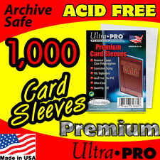 1000 ACEO ATC PREMIUM CLEAR PLASTIC CARD SLEEVES ACID FREE ARCHIVE SAFE 81385-10