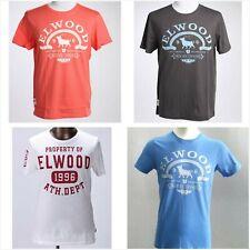 Elwood Mens 100% Cotton T-shirt Basic Tee Crew Tops Casual Tee Shirt S-XL SALE