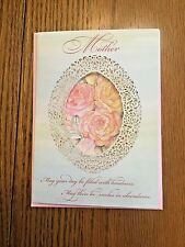 Beautiful Handmade Mother's Birthday Card & Envelope Lovely Message Of Love