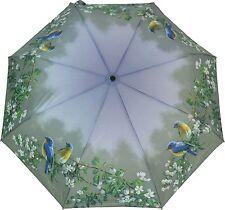 ArtBrollies Blue Birds manuel ouvrir fermer pliant parapluie compact parapluie art