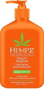 Hempz Herbal Body Moisturizer with SPF 30* Yuzu & Starfruit Scent 8.5 fl.oz.