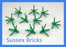 Lego Plant - 10x Green 6 Point Flower Stem Grass 19119 City Castle- New Pieces