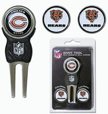 Chicago Bears Golf Divot Tool with 3 Markers [NEW] NFL Golfing Marker CDG