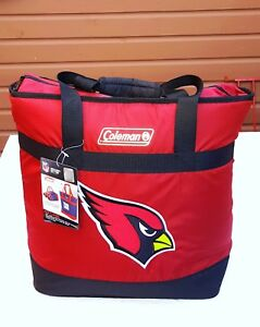 COLEMAN INSULATED ARIZONA CARDINALS COOLER X-LARGE SIZE BAG TOTE SOFT SIDED