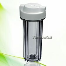 """Contemporary Clear Water Filter Housing Standard 10"""" for Reverse Osmosis 1/4"""""""