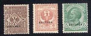 Eritrea #88-90 Unused Scott CV $23.25