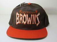 Vintage Rare NFL Cleveland Browns Snapback DS Hat Cap Scripted 80's NWT Bones