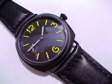 Panhom marina 45mm PVD Yellowish Mechanical Handwind Parnis 6497 militare Watch