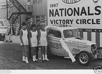 JACK DITMARS B/A WINNERS CIRCLE 1967 INDY NATIONALS  8x12 NHRA DRAG RACING PHOTO