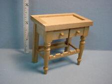 Dollhouse Miniature WineTable - Wood - Unfinished #1-764/9