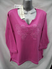 BNWT Ladies Sz 14/16 Autograph Pretty Pink Soft Stretch 3/4 Sleeve Top RRP $50