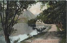 Postcard Scotland Stirling Loch Katrine Path by Loch Valentines Series 1905-20