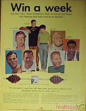 1968 Bart Starr~Bob Feller&Other Sports Stars Paper Ad