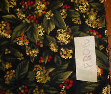 """Fat Quarter Holly w/leaves & berries 18""""x22"""" New FQ018"""
