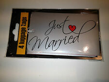 Wedding Luggage Tags Labels x 4  Just Married