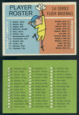 (45720) 1963 Fleer Checklist Short Print-Ink Marks-EX+