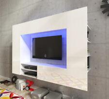 Salotto set di mobili da appendere unità TV mobile mobiletto bianco LED Luce