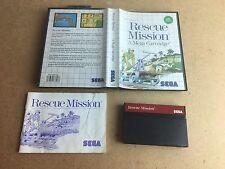 Misión de rescate-SEGA Master sistema (SMS) probado PAL Reino Unido