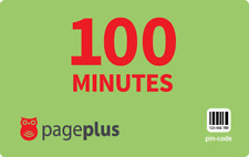 PagePlus  Prepaid $10  100 Minutes Refill Top-Up Prepaid Card ,PIN / RECHARGE