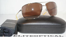 New Authentic Dolce & Gabbana D&G Silver/Brown Polarized DD6090 04/73 65