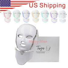 LED Photon Light Emitted Skin Rejuvenation Facial Neck Mask Therapy 7 Color