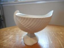 Wedgwood WHITE jasperware nautilus shell footed compote