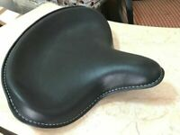 Genuine Leather HARLEY WLA WLC VL UL EL WL KNUCKLEHEAD SOLO SEAT FLATHEAD BLACK