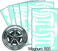 Mustang Magnum 500 15 Wheel Paint Mask Stencil Kit