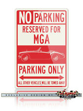 MG MGA Convertible Reserved Parking Only 12x18 Aluminum Sign