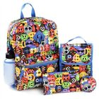 NWT 6 PC REBOOT CHARACTERS BACKPACK SET, LUNCHBOX, PENCIL CASE, WATERBOTTLE