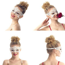 Maschera Sexy Donna Viso Occhi Pizzo Bianco Ballo Festa Halloween Giochi Erotici