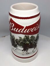 2016 Budweiser Holiday Stein - Christmas Beer Mug NEWEST from the Annual Series