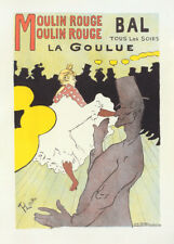 Moulin Rouge la Goulue by Toulouse Lautrec 90cm x 64cm Art Paper Print