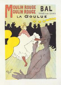 Moulin Rouge la Goulue by Toulouse Lautrec 90cm x 64cm Art Paper Print