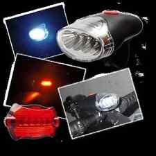 Fahrrad Lampenset Frontlampe+ Rücklampe+ Halterungen Fahrradlampe Licht NEU OVP