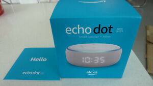 EMPTY BOX MANUAL ONLY FOR ECHO DOT WITH CLOCK 3RD GENERATION SMART SPEAKER ALEXA