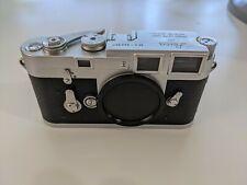 Leica M3 Transitional DS Silver 35mm Rangefinder Film Camera Body CLA'd by DAG