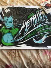Metallica Poster Lincoln Financial Philadelphia, PA 5/12/17 Knob Glass Hardwired