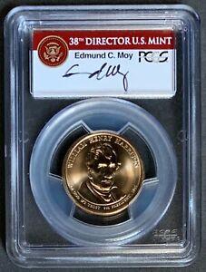 NQC Mint Error 2009 $1 W. H. Harrison w/ Moy sign., Missing Edge Lettering MS65