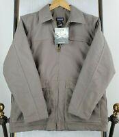 VTG NWT 2001 PATAGONIA Womens Large Cotton Canvas Field Chore Jacket Coat Gray