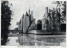 1907  --  CHATEAU DU MOULIN  APPARTENANT A Mme DE MARCHEVILLE   3K910