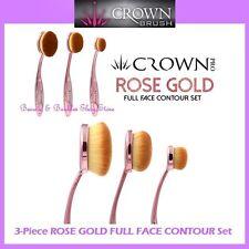 NEW Crown Brush 3-Piece ROSE GOLD FULL FACE CONTOUR Brush Set FREE SHIPPING RG01