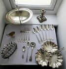 ANTIQUE & VINTAGE SILVER PLATED CUTLERY BASKET SERVING TRAY JUG CADDY SPOON LOT