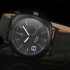 TCC Military Army Quartz Wrist Watch CURREN Men's Leather Strap Sport Luxury New