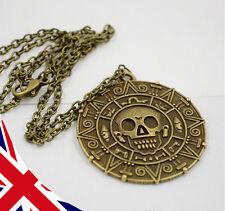 Pirates of the Caribbean Necklace - Jack Sparrow -POTC- Aztec Bronze Skull Coin